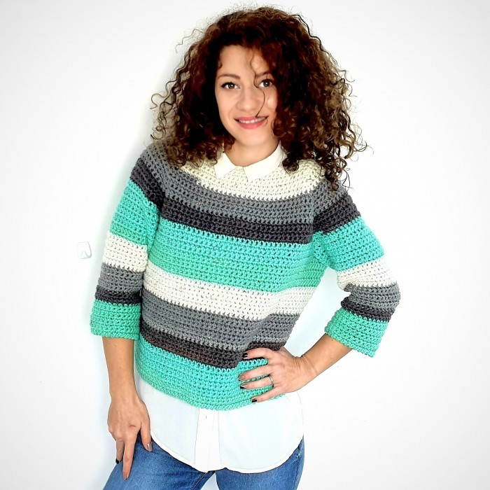 Mint Lollipop Sweater Patterns