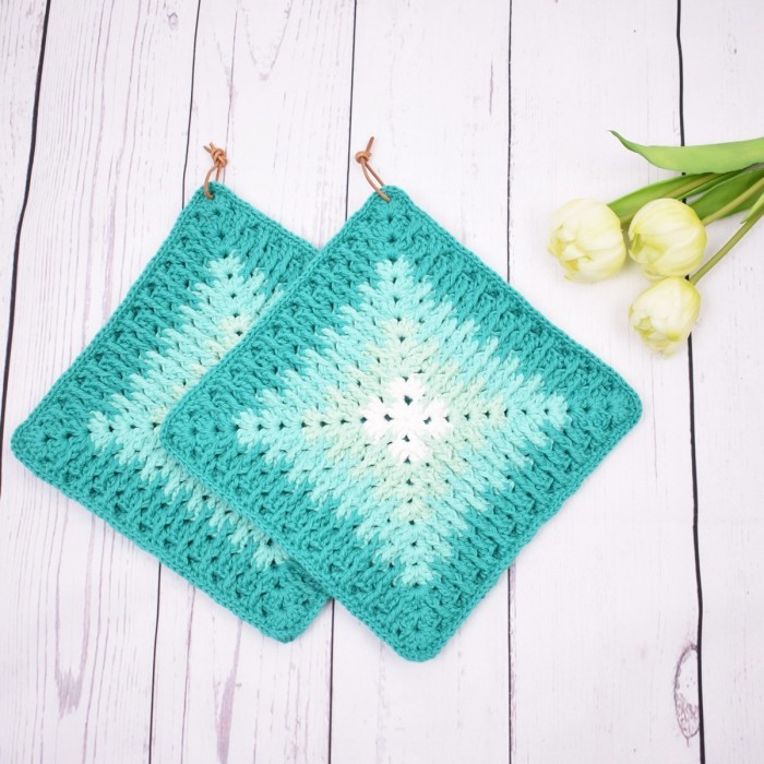 Mosaic Granny Potholders - Mix Patterns