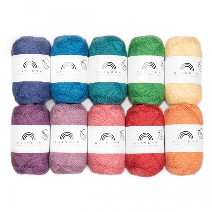 Rainbow Cotton 8/4 Melange Color Bag Fils Hobbii