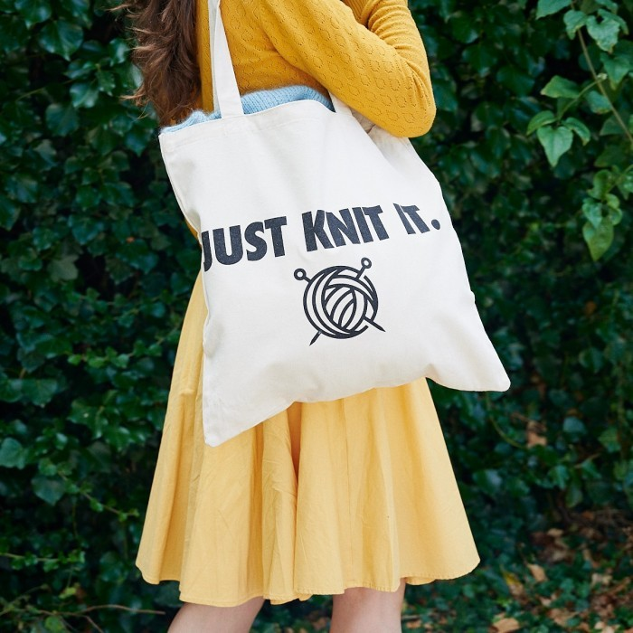 Statement Tote Bag - Just Knit It Accessories Hobbii