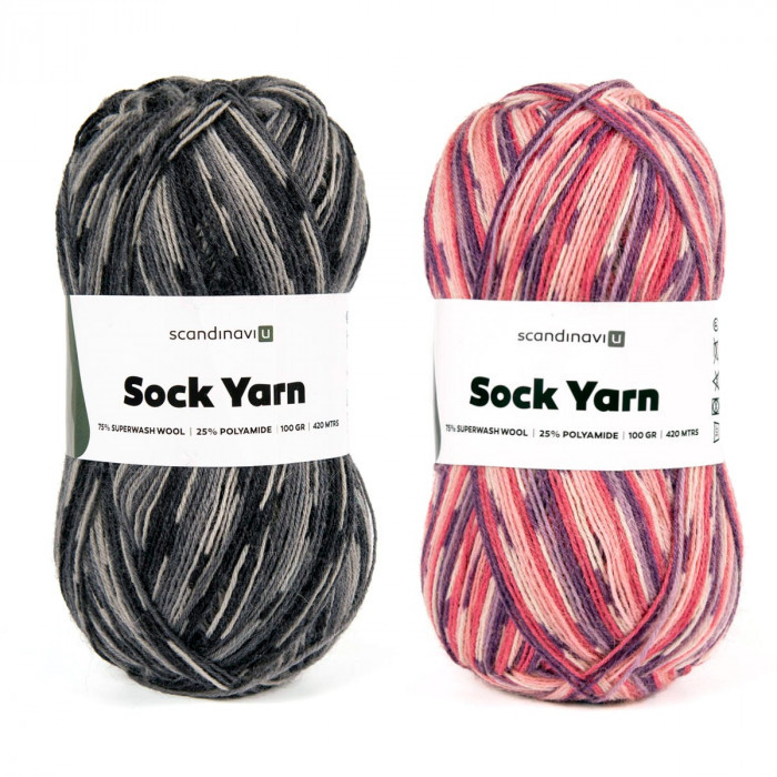 Sock Yarn Print 100 g Garn & Wolle ScandinaviU