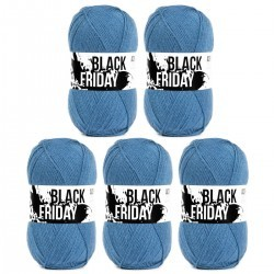 Black Friday Acrylgaren - 5 x 100 g (Limited Edition 2020) Garens Hobbii