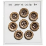 Coconut Buttons - Classic Accessories Go Handmade