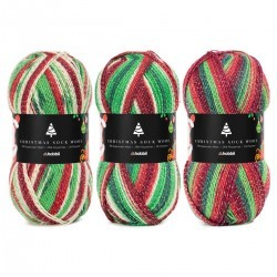 Christmas Sock Wool Collection, 3 x 100 g Garens Hobbii