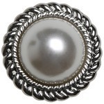 Pearl Buttons - 21 mm - 4 pcs Accessories Go Handmade