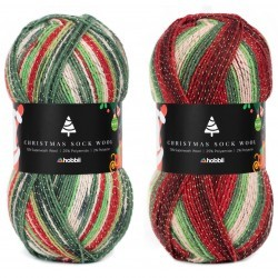 Christmas Sock Wool Garens Hobbii
