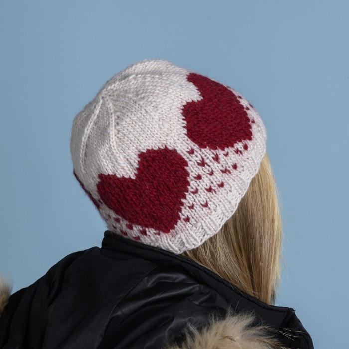 Rubin - Hat with hearts Patterns