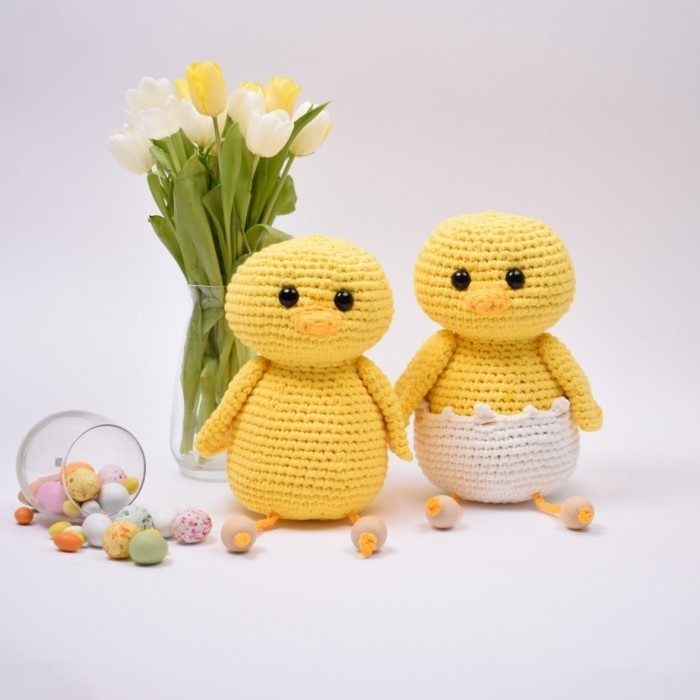 Easter Chicks Perle and Pedro - Large Patterns