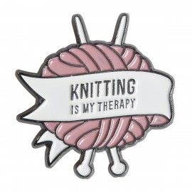 Pin - Knitting is my therapy Go Handmade Go Handmade