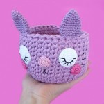 Kawaii Cat - Basket Gratis Patronen