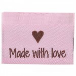 10 labels - Made with love - 3,5 cm  Toebehoren Go Handmade