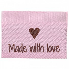 10 Labels - Made with love - 3,5 cm  Tilbehør Go Handmade