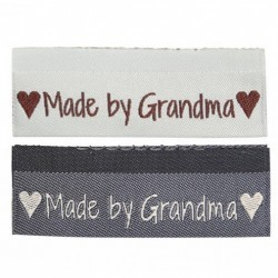 10 Labels - Made by Grandma - 5 cm Zubehör & Kurzwaren Go Handmade