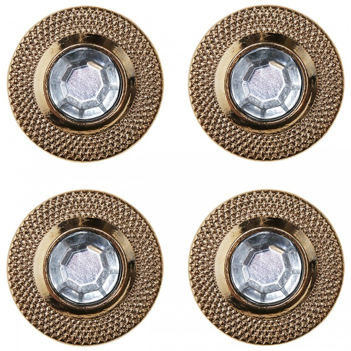 Bling Buttons - 17 mm - 4 pieces Accessories Go Handmade
