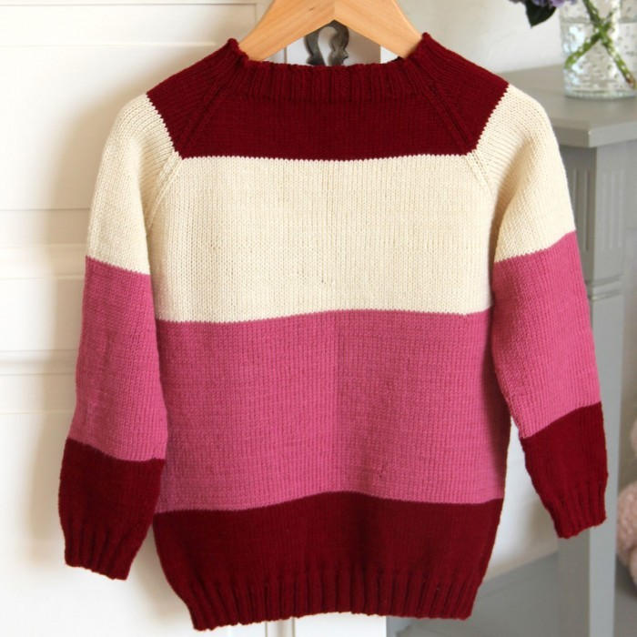 Stripe Raglan Sweater – Little One's & Tweens - Girls Opskrifter Go Handmade