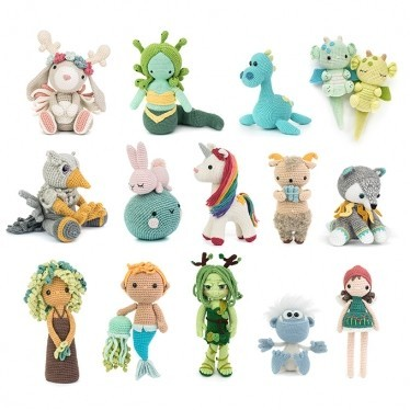 Unicorns, Dragons and More Fantasy Amigurumi 2 Bøger Meteoor Books