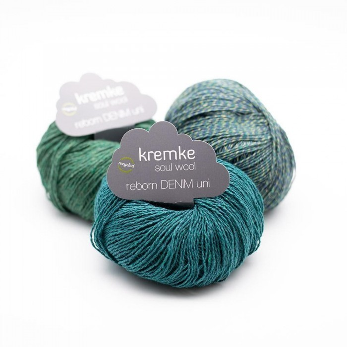 Reborn Denim Uni Yarn Kremke Soul Wool