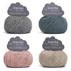 Reborn Denim Colori Garn Kremke Soul Wool