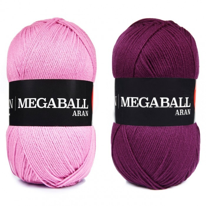 Mega Ball Aran, 400 g Fils We Love Yarn