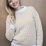 1688 – Woman's sweater with weave knitting in Mayflower Alpaca Touch. Patterns Mayflower