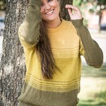 1637 – Shirt with stripe-effect in Mayflower Alpaca Touch. Patterns Mayflower