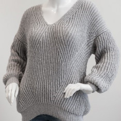 1698 – Sweater in fisherman's rib in Mayflower Easy Care Cotton Merino. Patterns Mayflower