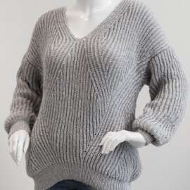1698 - Patentstickat sweater i Mayflower Easy Care Cotton Merino. Mönster Mayflower
