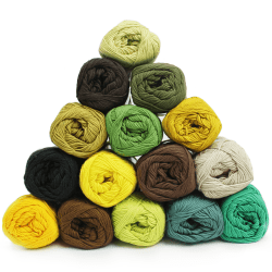 Garnpaket - Cotton 8/4 - Herbst - 15 Farben Garn & Wolle Mayflower