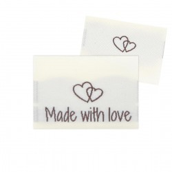 10 Labels - Made with love - 2 hearts - 3.5 cm Accessories Go Handmade