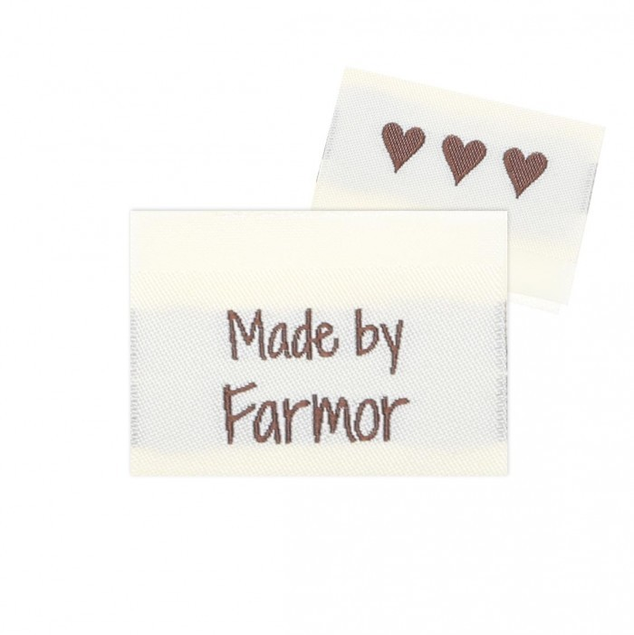 10 Labels - Made by Farmor - 3.5 cm  Tillbehör Go Handmade