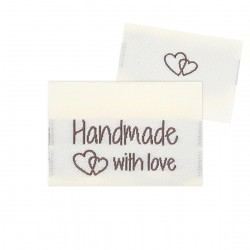 10 Labels - Handmade with love - 3.5 cm  Accessories Go Handmade