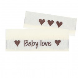 10 Labels - Baby love - 5 cm  Accessories Go Handmade
