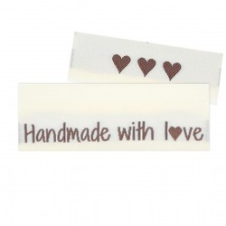 10 Labels - Handmade with love - 5 cm Accessories Go Handmade