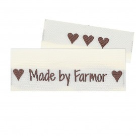 10 Labels - Made by Farmor - 5 cm  Tillbehör Go Handmade