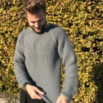 Asger Sweater in Seed Stitch Patterns
