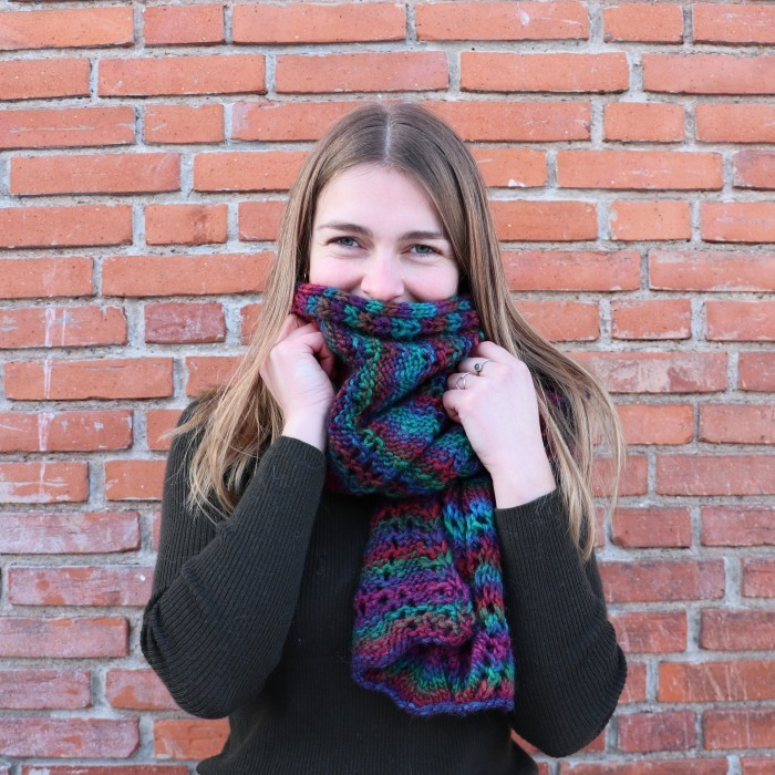 Chunky Bark Scarf Patterns