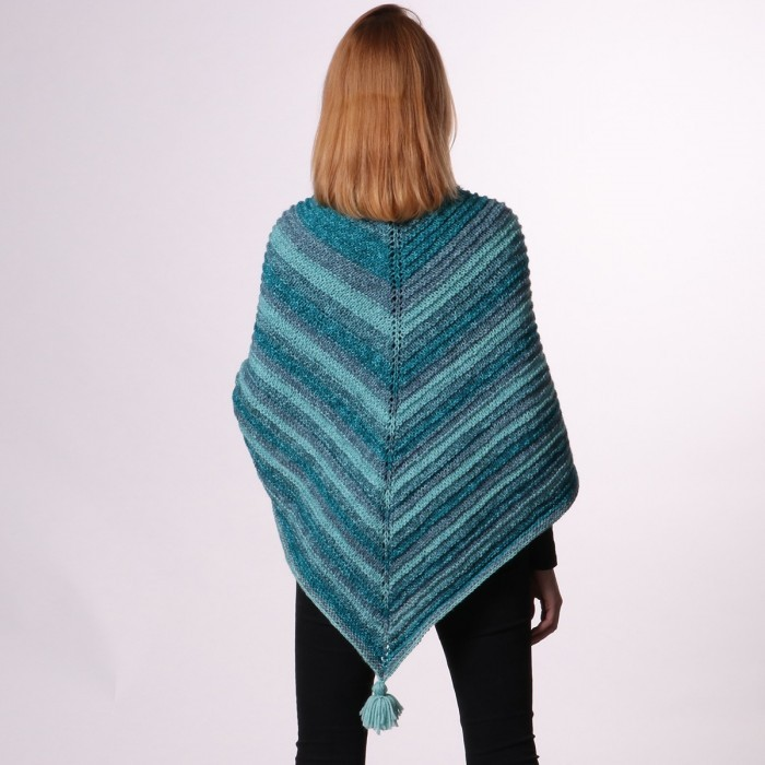Shawl with Ridge Pattern – Lollipop Melange Patterns
