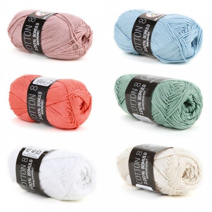Cotton 8/4 mercerisiert Garn & Wolle Mayflower