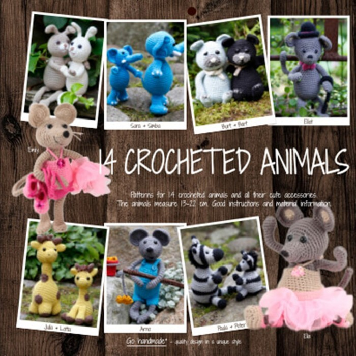 14 Crocheted Animals Books Go Handmade