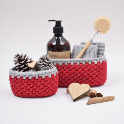 Ribbon Christmas Basket – Oval Patterns