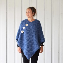 Autumn Waves Poncho - Plus Size Mönster
