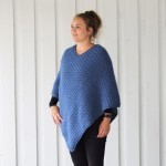 Autumn Waves Poncho - Plus Size Oppskrifter