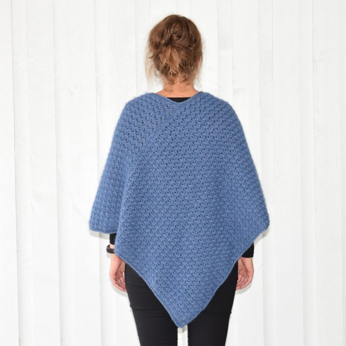 Autumn Waves Poncho - Plus Size Patterns