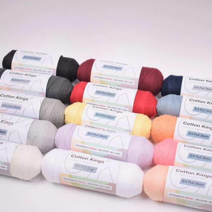 Pull Skein Cotton 100g Garn & Wolle Cotton Kings