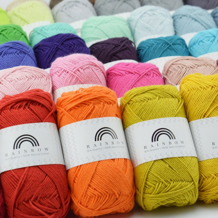 Rainbow Cotton 8/4  Garens Hobbii