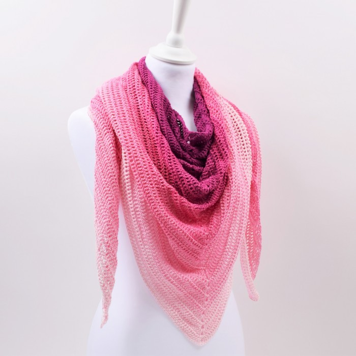 Simple Lines Shawl - Twirls Deluxe Patterns