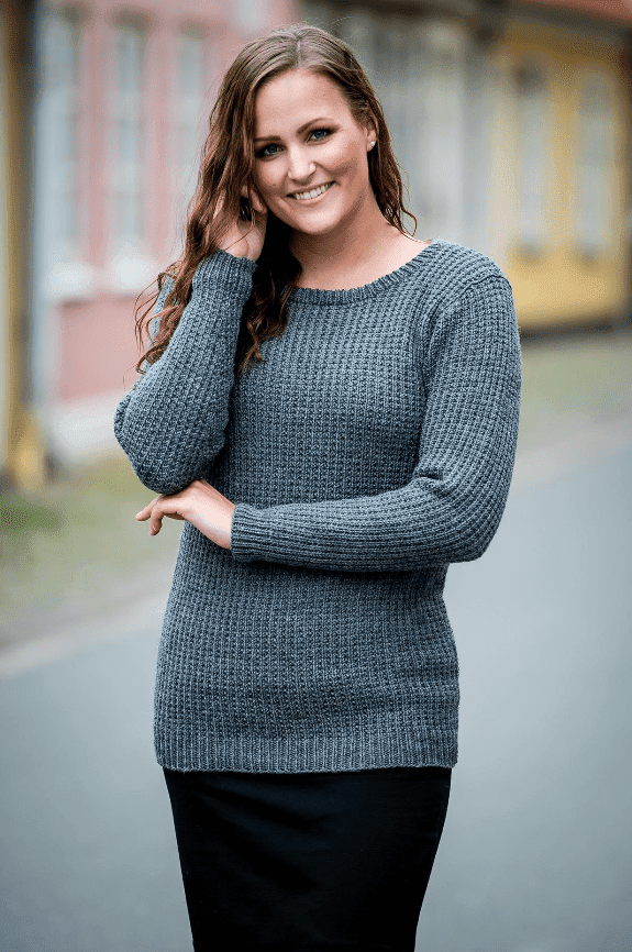 1512 - Sweater i Easy Care Classic Mönster Mayflower