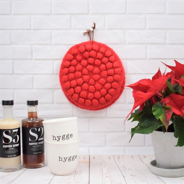 Christmas Pot holders with Bubbles Patterns