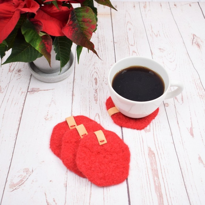 Felted Christmas Coffee Coaster Patterns