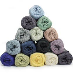 Garnpaket - Cotton 8/4 - Winter - 15 Farben Garn & Wolle Mayflower